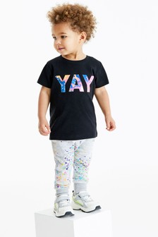 T-Shirt And Joggers Splat Print Set (3mths-7yrs)