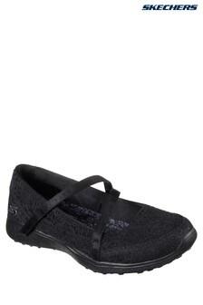 Skechers® Black Microburst Pure Elegance Crochet Mary Jane