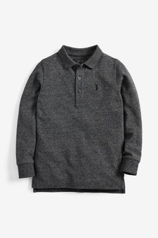 Langärmliges Pikee-Poloshirt (3-16yrs)