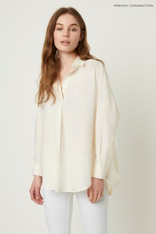 French Connection Cream Rhodes Poplin Popover Shirt
