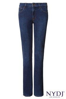 NYDJ Mid Blue Denim Billie Mini Boot Cut Jean