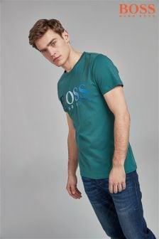 BOSS Khaki Topwork Logo T-Shirt