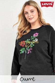 Levi's® Plus Black Floral Logo Sweat