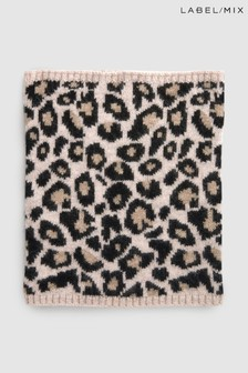Mix/Somerville Cashmere Leopard Snood