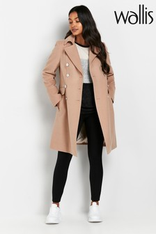 Wallis Tall Stone Longline Coat