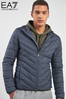 Emporio Armani EA7 Shield Grey Padded Jacket