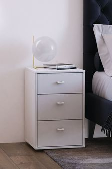 Monroe 3 Drawer Bedside Table