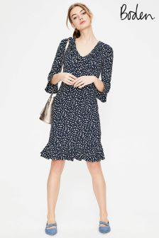 Boden Navy Daisy Ditsy Michaela Jersey Dress