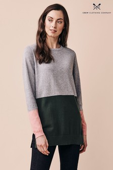 Crew Clothing Company Green Colourblock Tunic