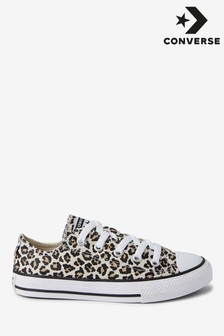 Converse Leopard Youth Chuck Low Trainers