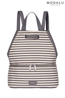Modalu Grey Stripe Harriet Rucksack