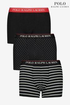 Polo Ralph Lauren Black Spot and Stripe Trunks Three Pack