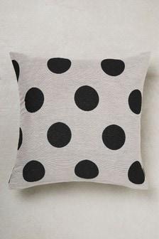 Polka Dot Jacquard Cushion