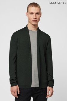 AllSaints Black Mode Merino Cardigan