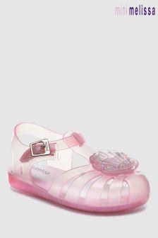 Mini Melissa Pink Aranha Shell Sandal