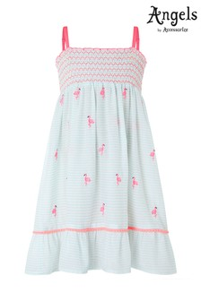 Angels by Accessorize White Felicity Flamingo Dress