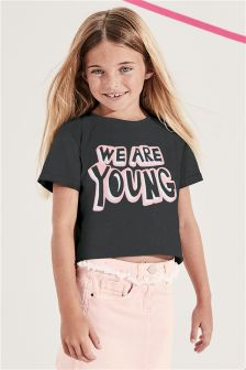 Boxy Slogan T-Shirt (3-16yrs)