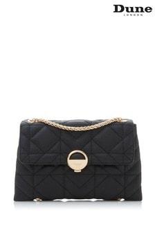 Dune London Black Plain Synthetic Mixed Quilt Shoulder Bag