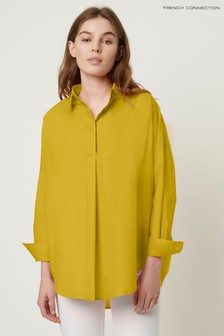 French Connection Yellow Rhodes Poplin Popover Shirt