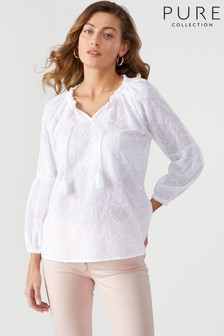 Pure Collection Tie Neck Blouse
