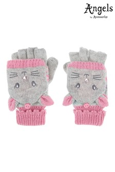 Angels by Accessorize Grey Becci Bunny Capped Mitten