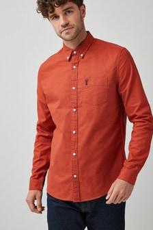 Оксфордская рубашка с длинным рукавом с оленем