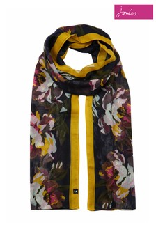 Joules Blue Wensley Long Line Woven Scarf