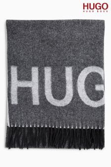 HUGO Grey Logo Scarf