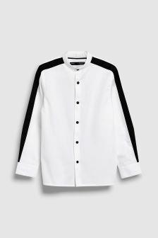 Long Sleeve Contrast Arm Stripe Shirt (3-16yrs)