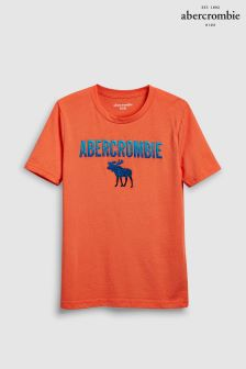Abercrombie & Fitch Orange Moose Logo T-Shirt