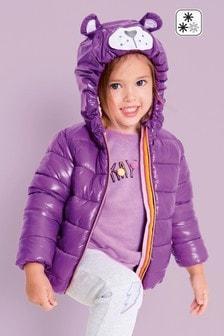 Дутая куртка с капюшоном и изображением персонажа (3 мес.-6 лет)