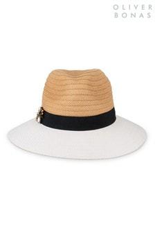Oliver Bonas White Bee Fedora Hat