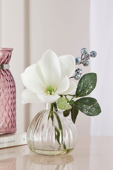 Artificial Magnolia In Perfume Bottle
