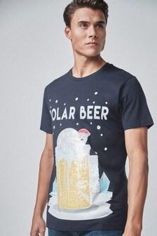 Weihnachts-T-Shirt mit Wende-Pailletten
