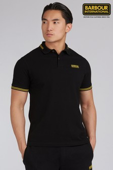 Barbour® International Black Tipped Polo