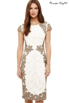 Phase Eight Praline/Cream Cornelia Dress