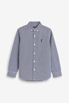 0b876d95ec64 Long Sleeve Gingham Oxford Shirt (3-16yrs)
