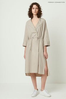 French Connection Natural Adoni Poplin Shirt Dress