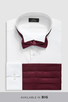 Wing Collar Shirt With Bow Tie And Cummerbund