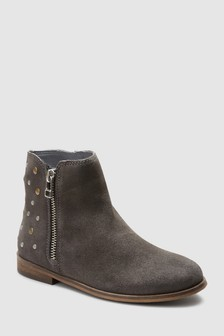 Stud Leather Ankle Boots (Older)