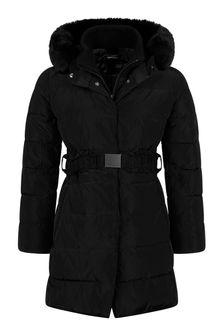 Monnalisa Girls Black Down Padded Coat