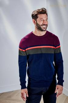 Cashmere Colourblock Poloshirt