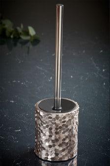 Metallic Hexagonal Toilet Brush