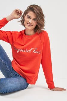 Whistles Red Aujourd Sweater