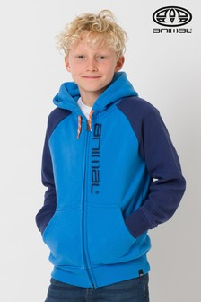 Animal Blue Humming Zip Through Hoody