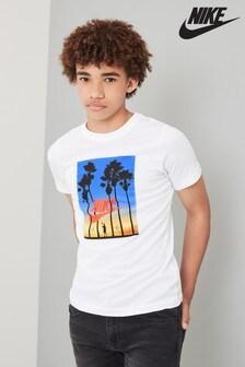Nike White Sunset Graphic T-Shirt