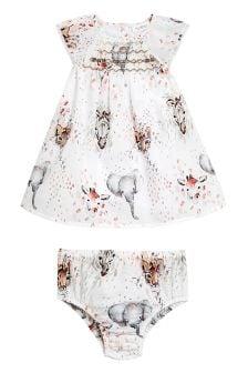Ensemble robe de bal et slip à imprimé (0 mois - 2 ans)