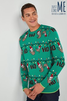 Mens Christmas Sloth Jumper