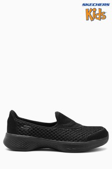 Skechers® Kids Black Go Walk 4 Kindle 3D Layer Slip On