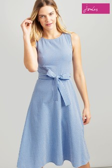 Joules Blue Fioa Sleeveless Woven Dress